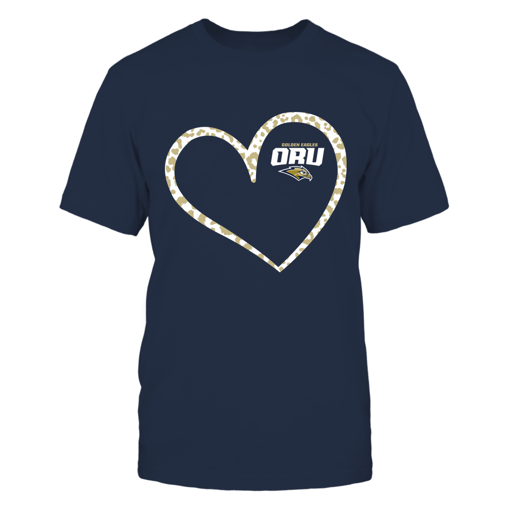 Oral Roberts Golden Eagles - Leopard Pattern Heart - Team Front picture