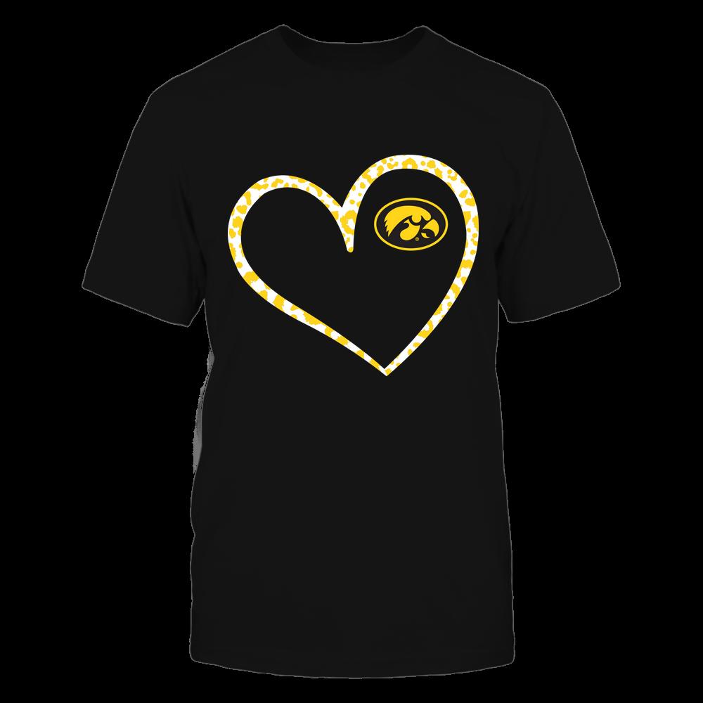 Iowa Hawkeyes - Leopard Pattern Heart - Team Front picture