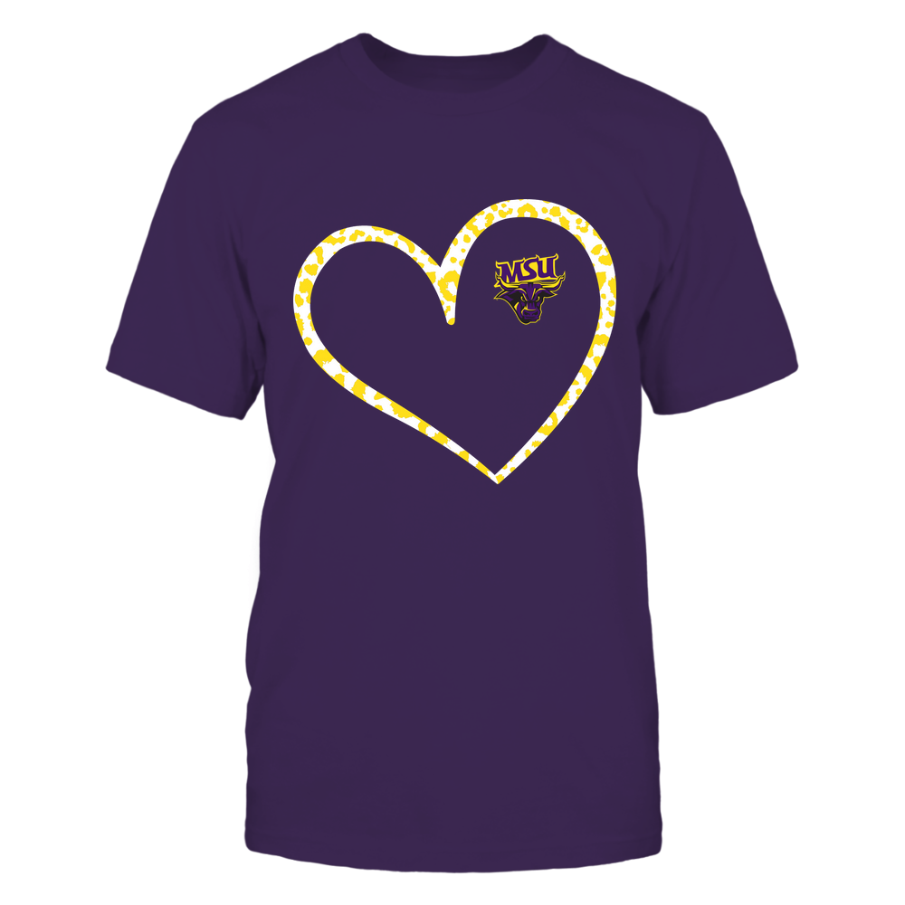 Minnesota State Mavericks - Leopard Pattern Heart - Team Front picture
