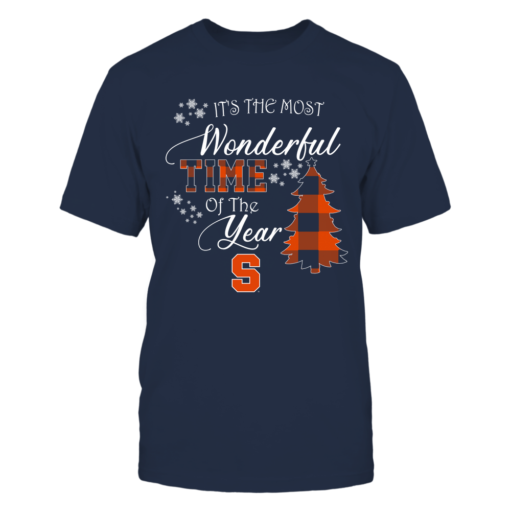 Syracuse Orange - Christmas - It's The Most Wonderful Time In The Year - Checkered Pattern Front picture
