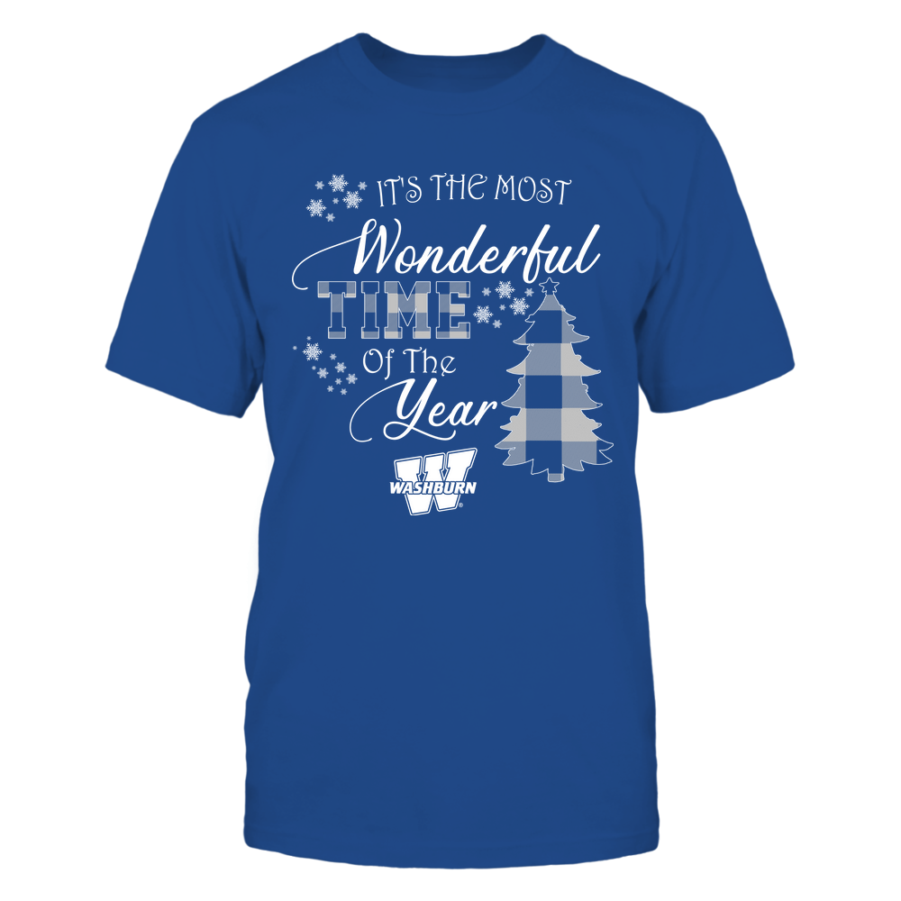 Washburn Ichabods - Christmas - It's The Most Wonderful Time In The Year - Checkered Pattern Front picture