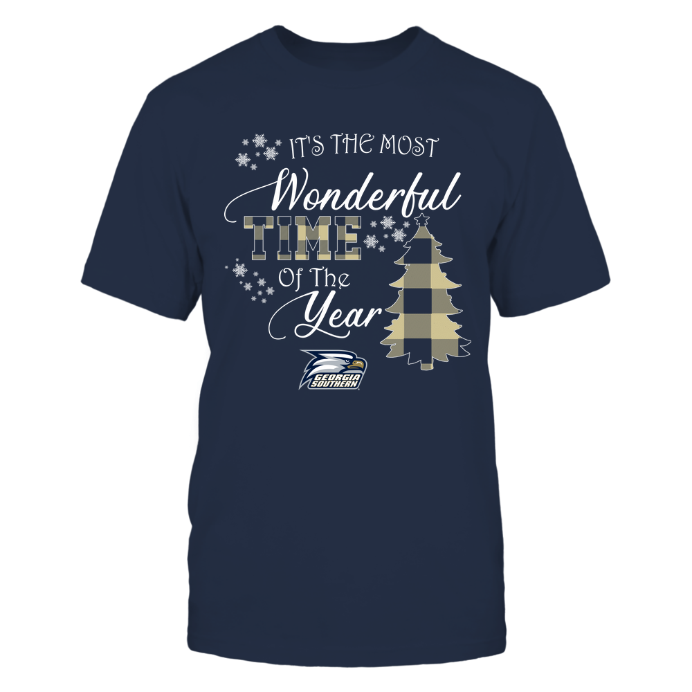 Georgia Southern Eagles - Christmas - It's The Most Wonderful Time In The Year - Checkered Pattern - IF-IC32-DS64 Front picture
