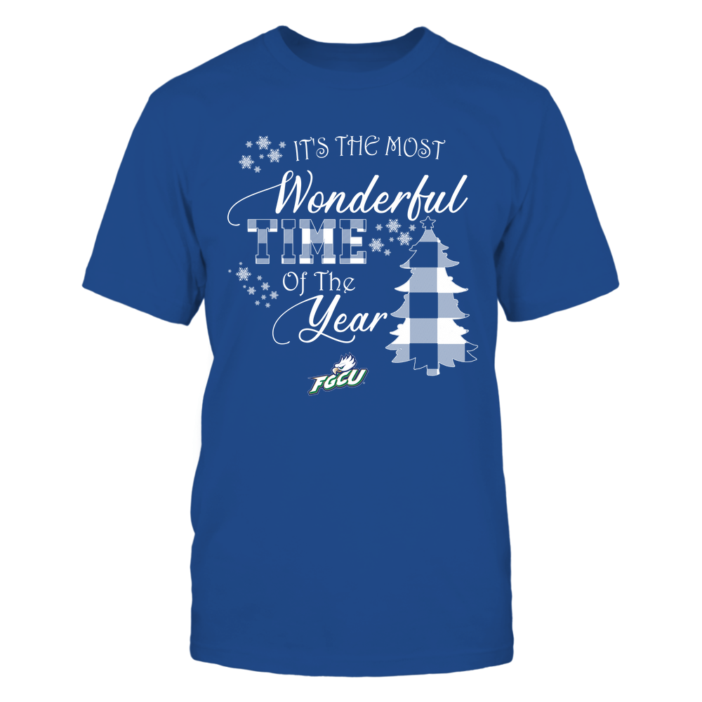 Florida Gulf Coast Eagles - Christmas - It's The Most Wonderful Time In The Year - Checkered Pattern Front picture