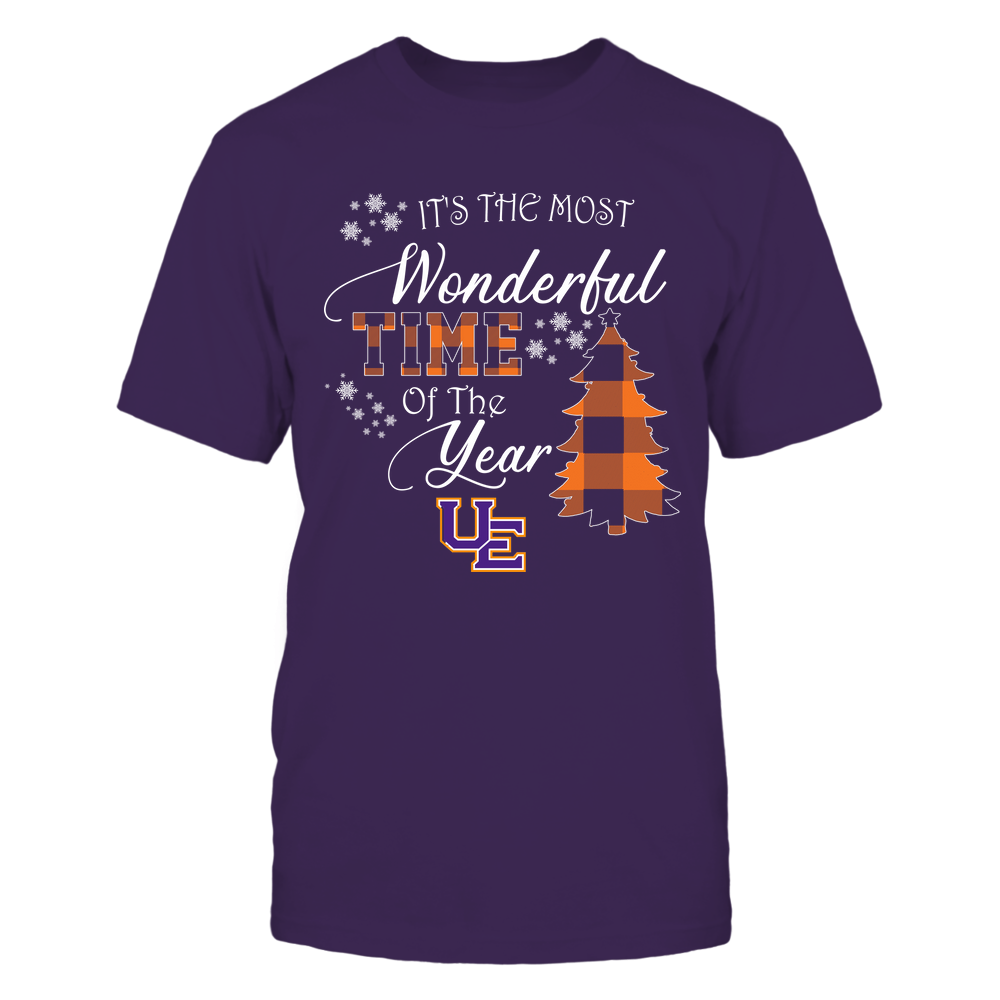Evansville Purple Aces - Christmas - It's The Most Wonderful Time In The Year - Checkered Pattern Front picture