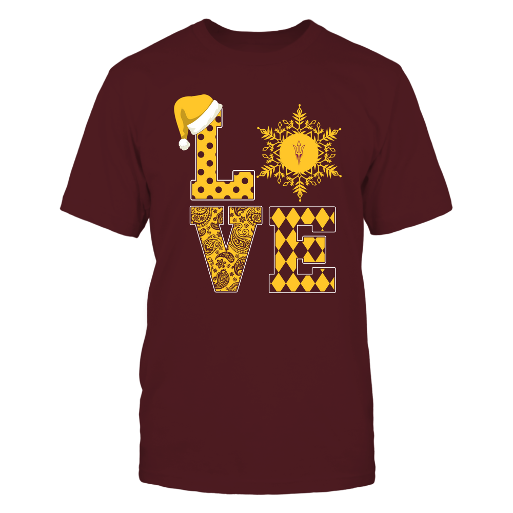 Arizona State Sun Devils - Christmas - Stacked Love Snowflake - Team Front picture