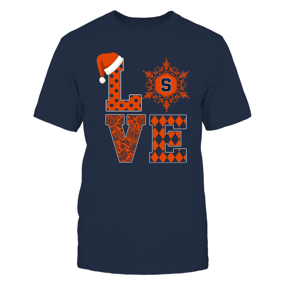 Syracuse Orange - Christmas - Stacked Love Snowflake - Team Front picture