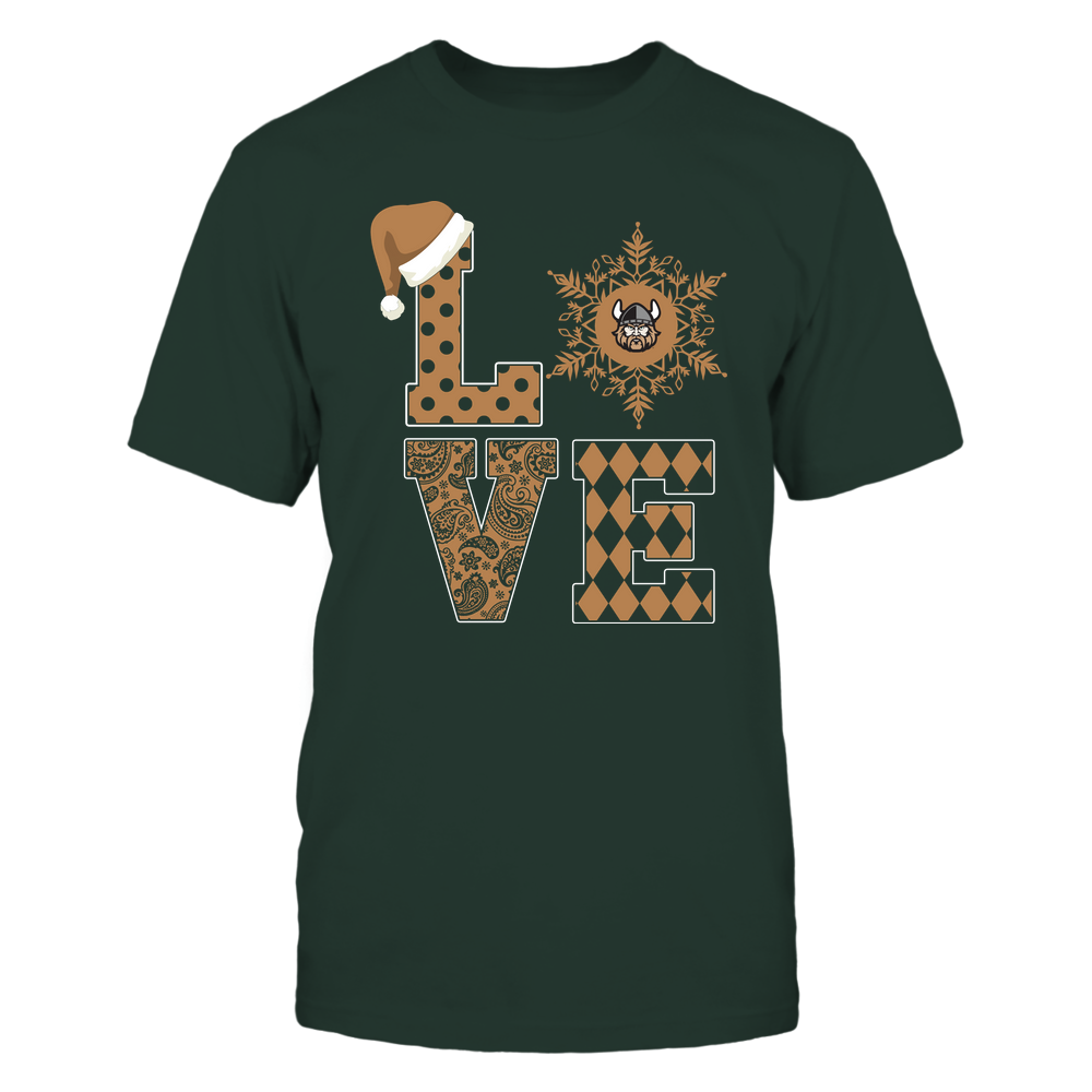 Cleveland State Vikings - Christmas - Stacked Love Snowflake - Team Front picture
