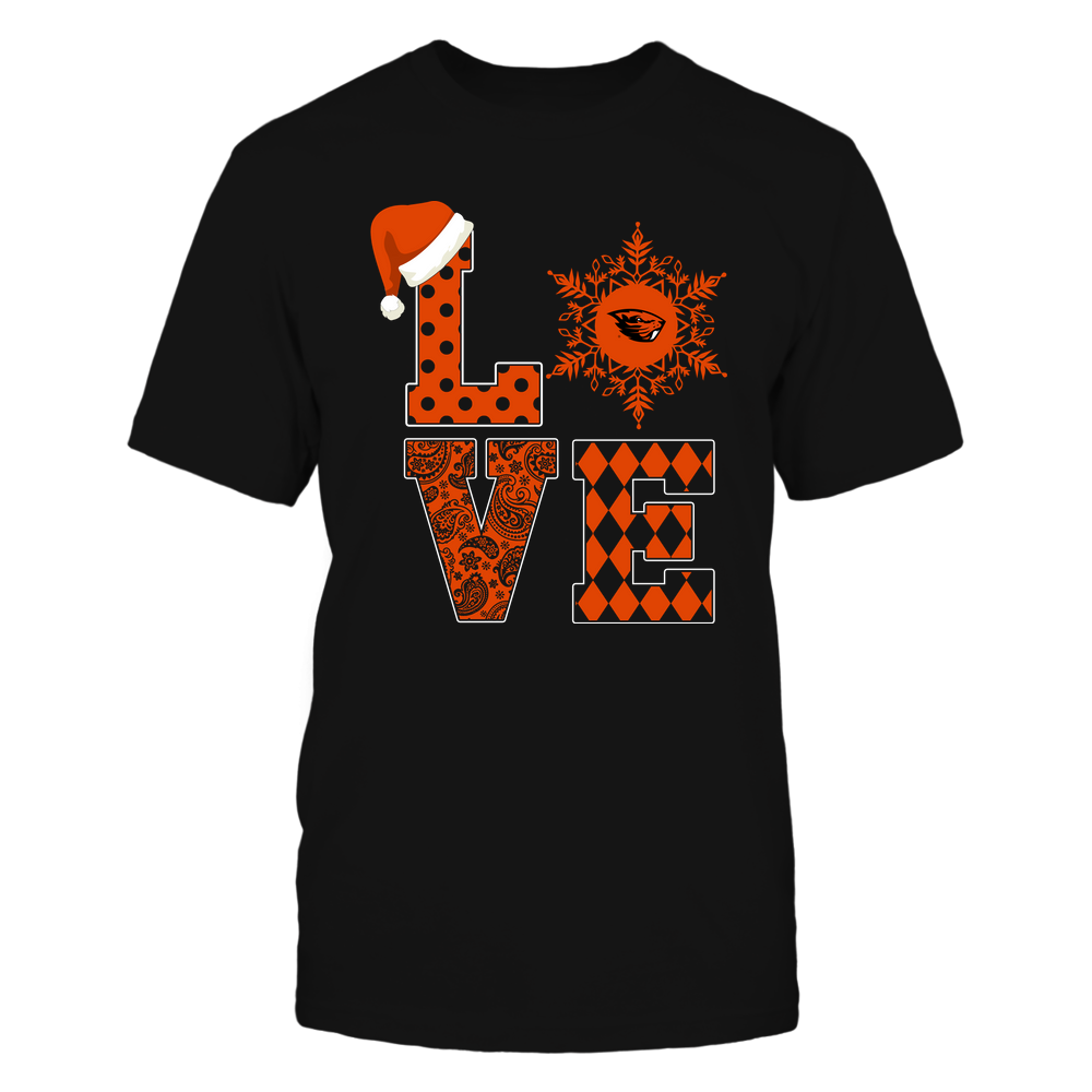 Oregon State Beavers - Christmas - Stacked Love Snowflake - Team Front picture
