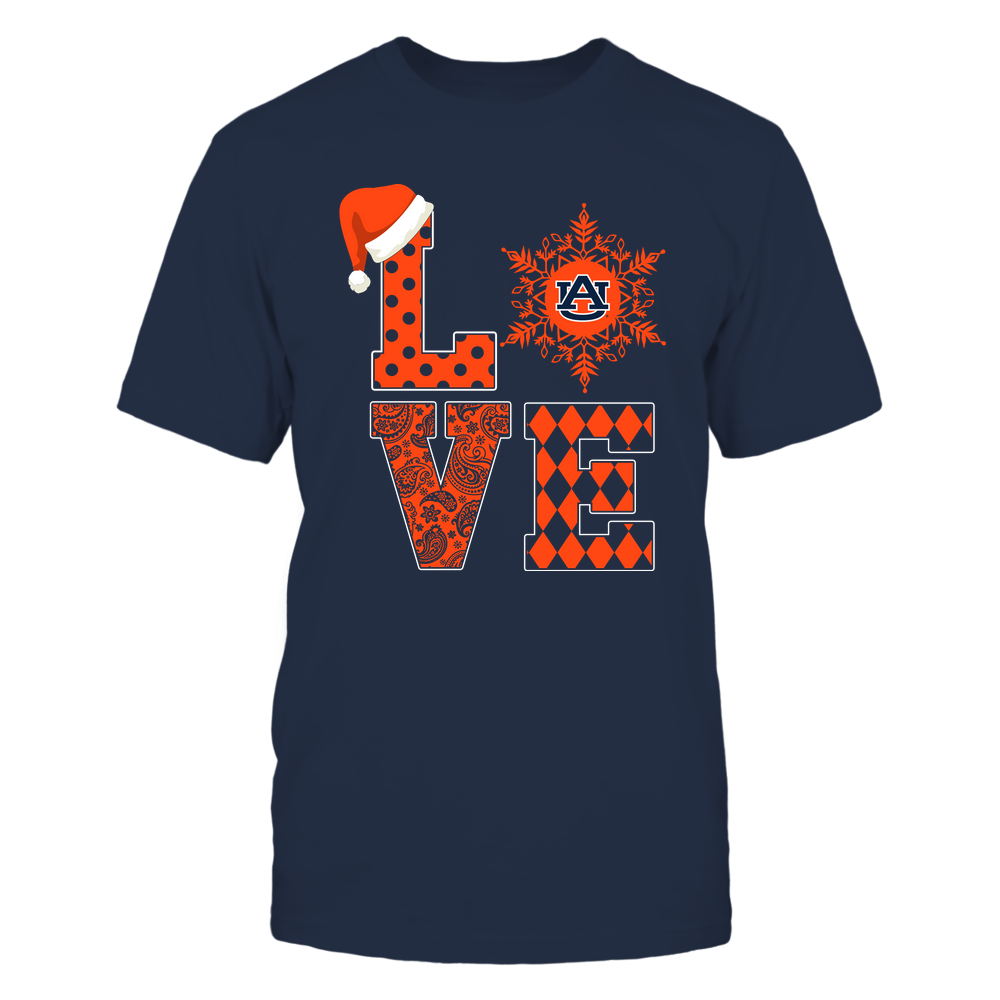 Auburn Tigers - Christmas - Stacked Love Snowflake - Team Front picture