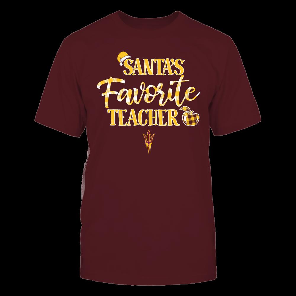 Arizona State Sun Devils - Christmas - Santa Favorite Teacher Hat - Checkered - Team Front picture