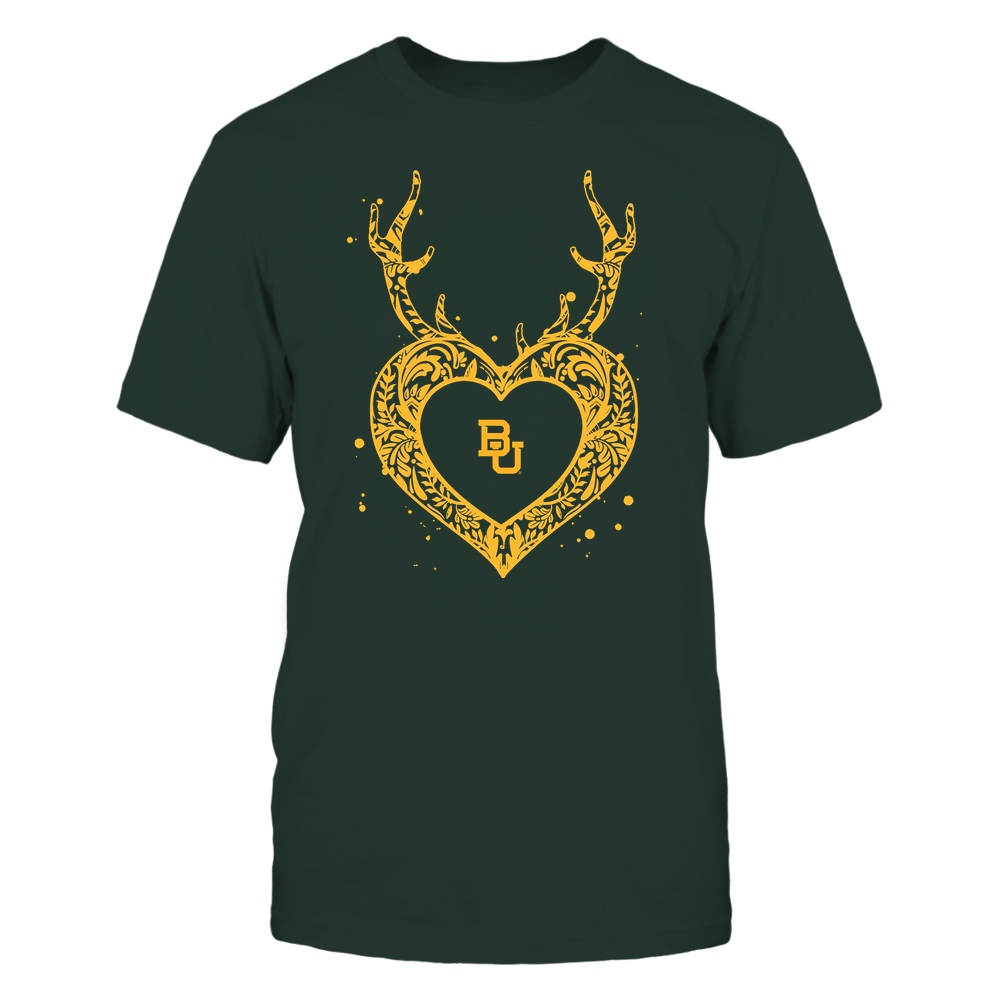 Baylor Bears - Deer Pattern Heart - Team Front picture