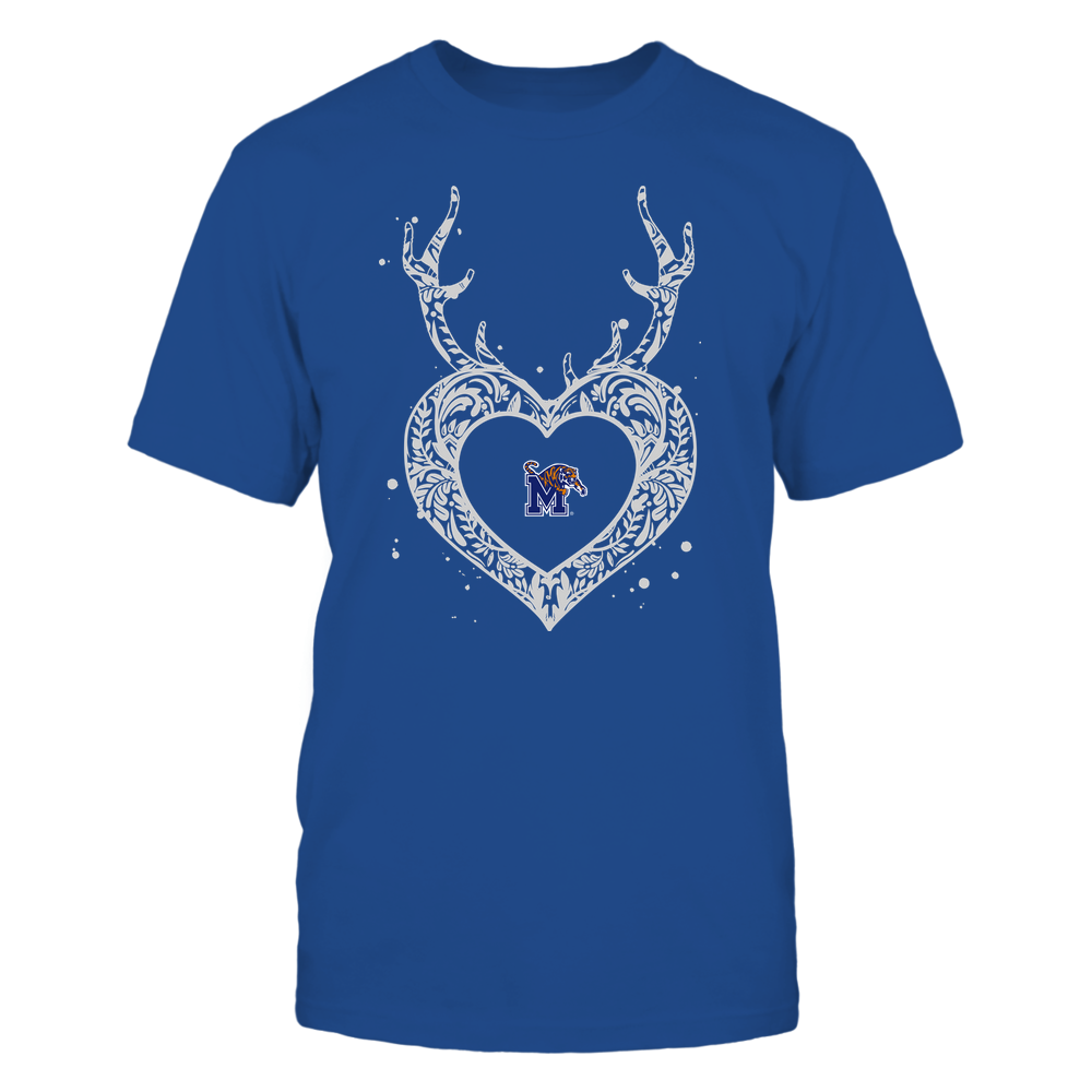 Memphis Tigers - Deer Pattern Heart - Team Front picture