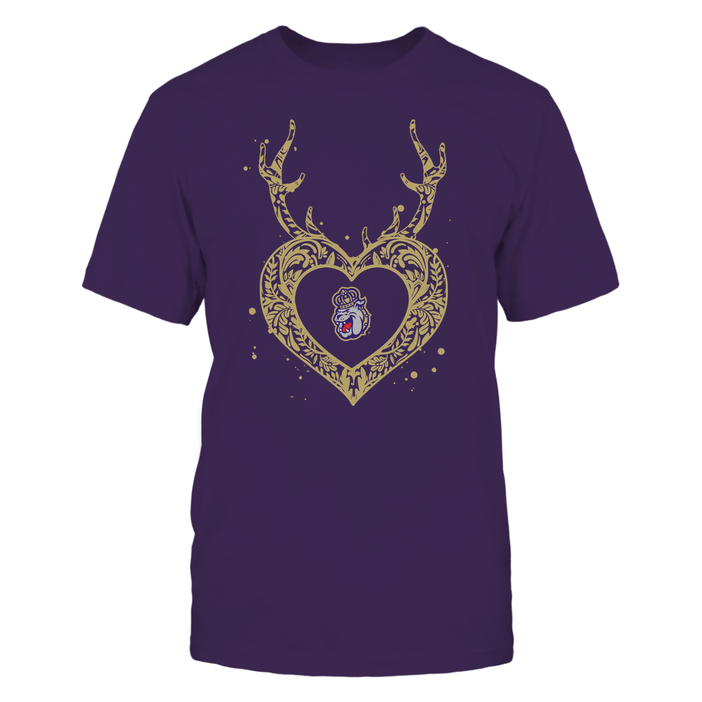 James Madison Dukes - Deer Pattern Heart - Team Front picture