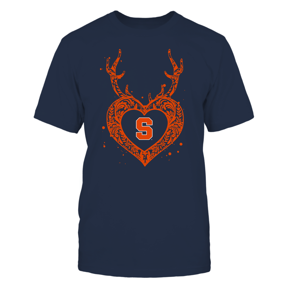 Syracuse Orange - Deer Pattern Heart - Team Front picture