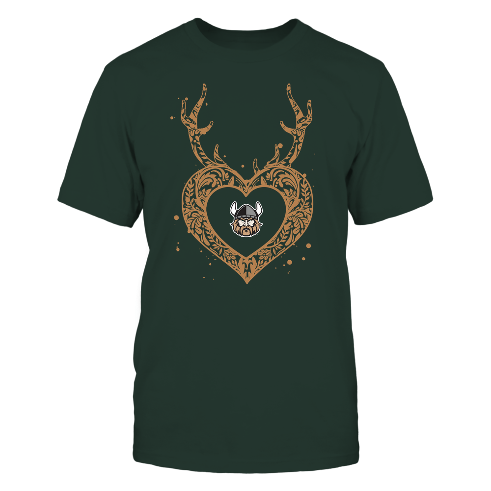 Cleveland State Vikings - Deer Pattern Heart - Team Front picture