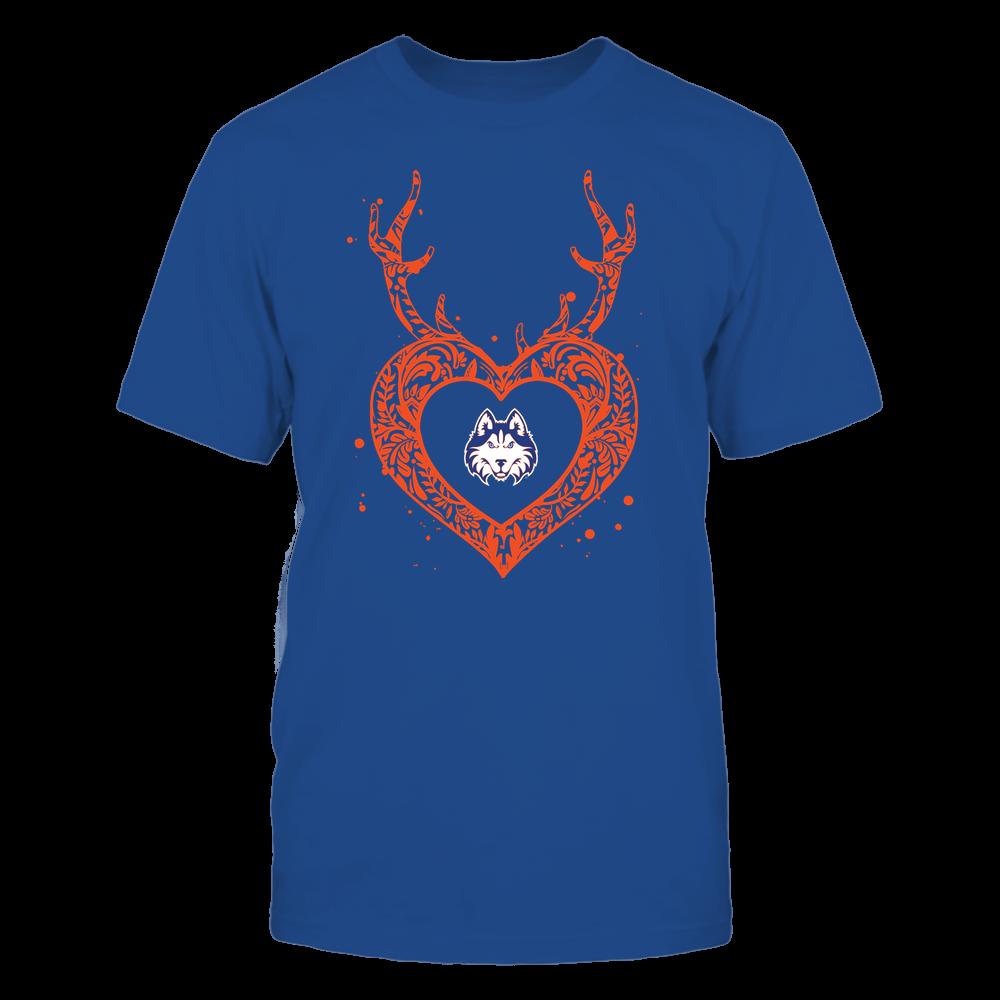 Houston Baptist Huskies - Deer Pattern Heart - Team Front picture