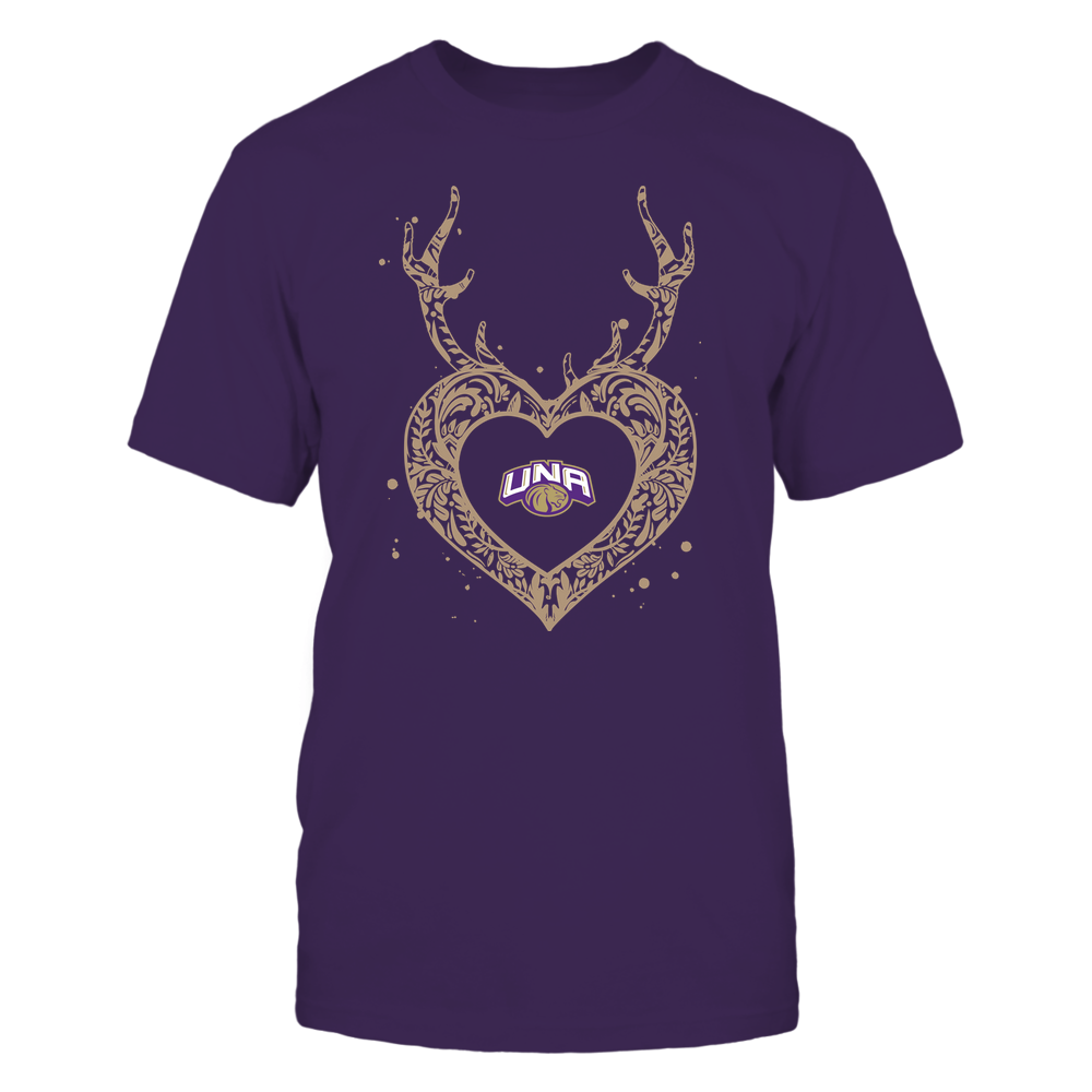 North Alabama Lions - Deer Pattern Heart - Team Front picture