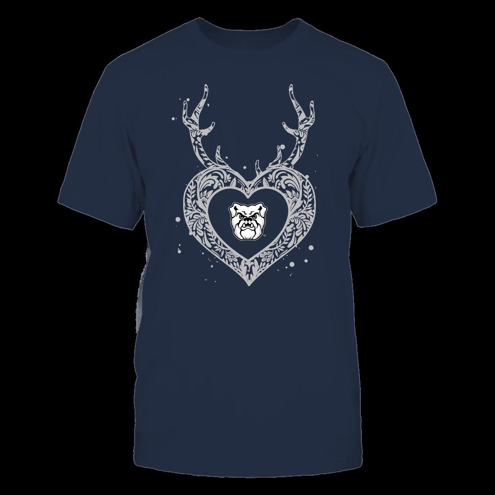 Butler Bulldogs - Deer Pattern Heart - Team Front picture