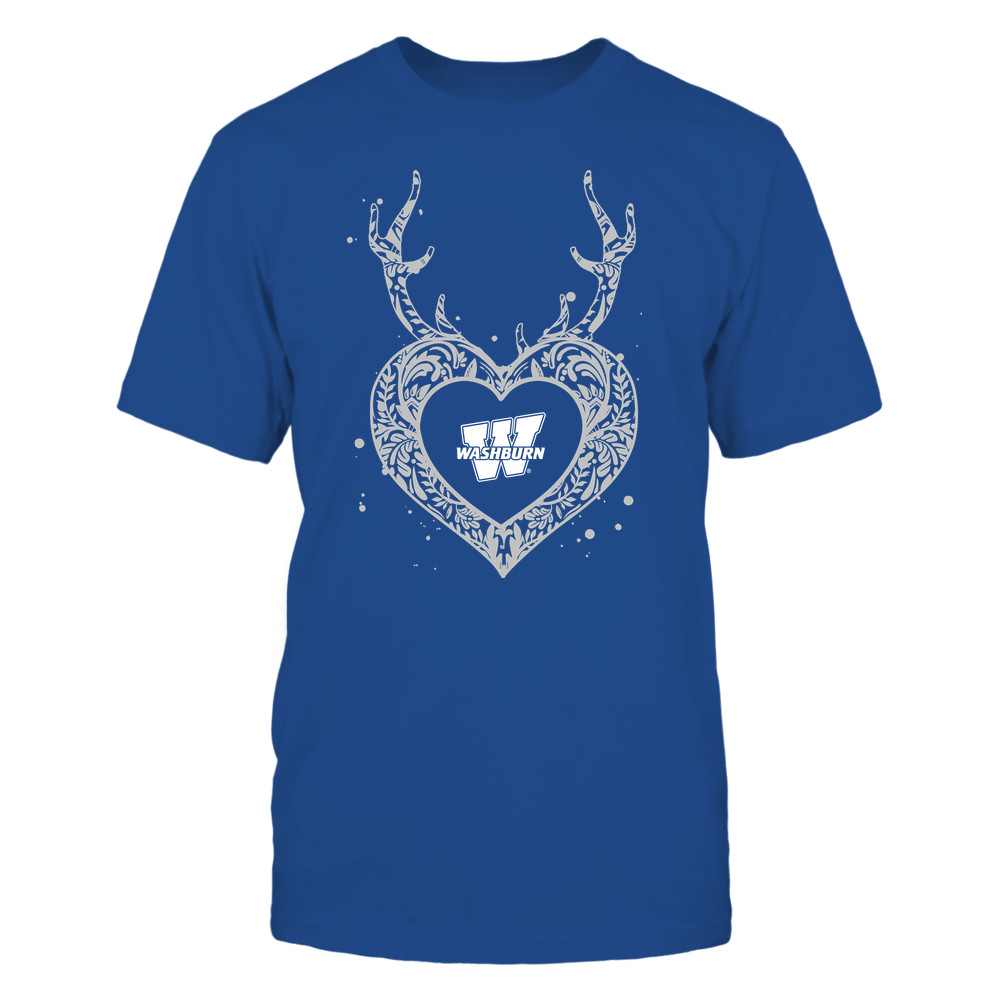 Washburn Ichabods - Deer Pattern Heart - Team Front picture