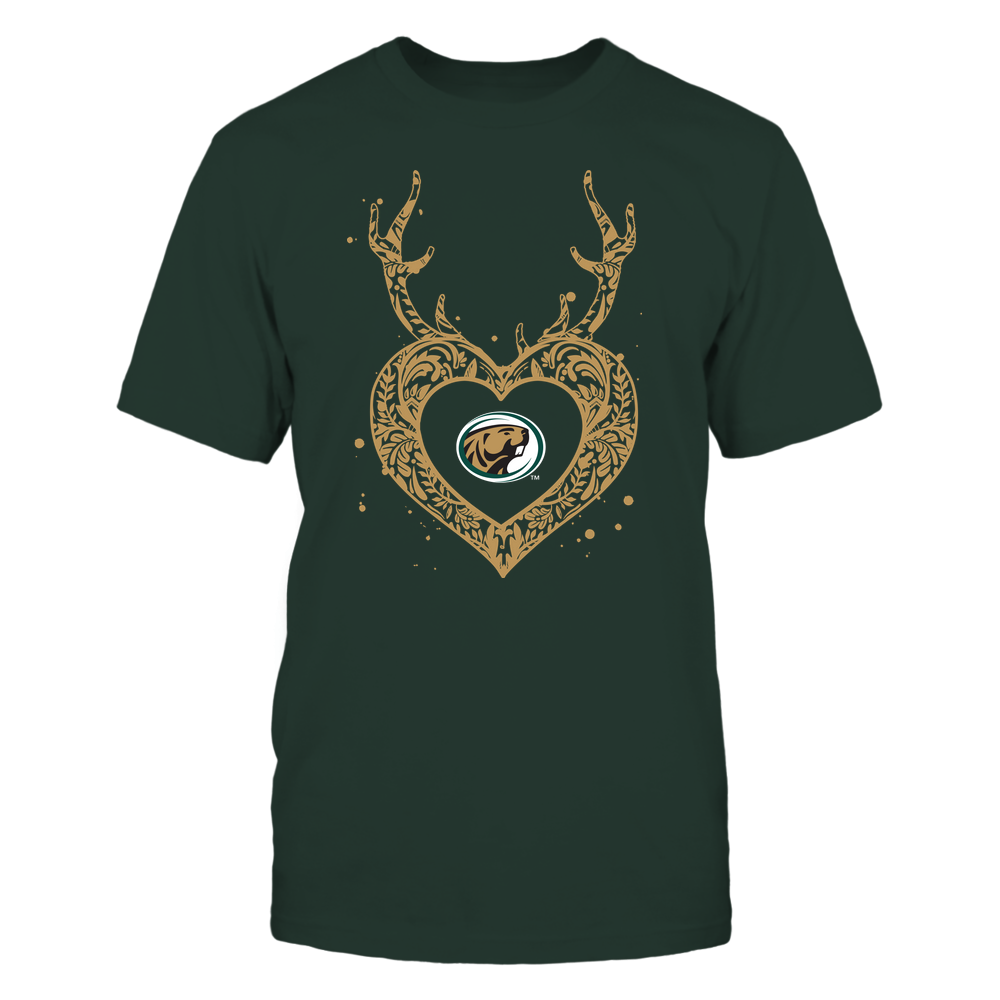Bemidji State Beavers - Deer Pattern Heart - Team Front picture