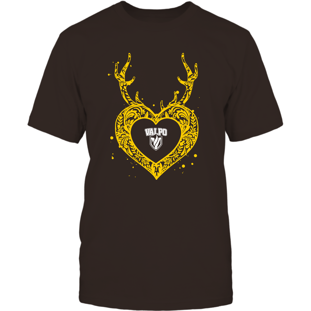 Valparaiso Crusaders - Deer Pattern Heart - Team Front picture