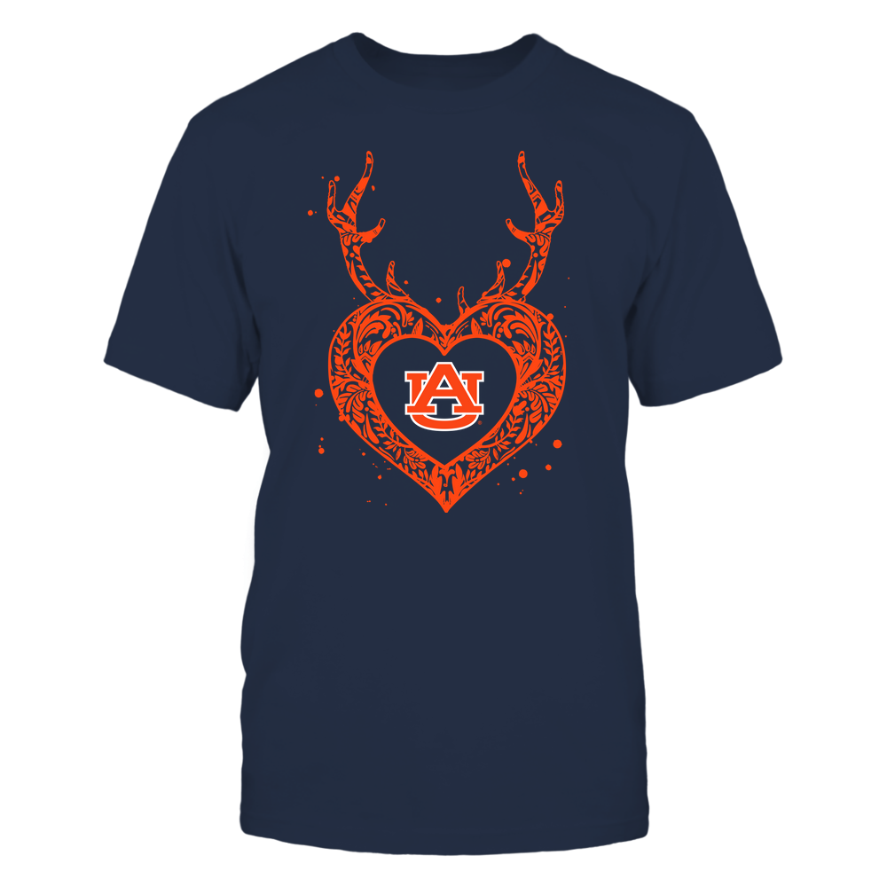 Auburn Tigers - Deer Pattern Heart - Team Front picture