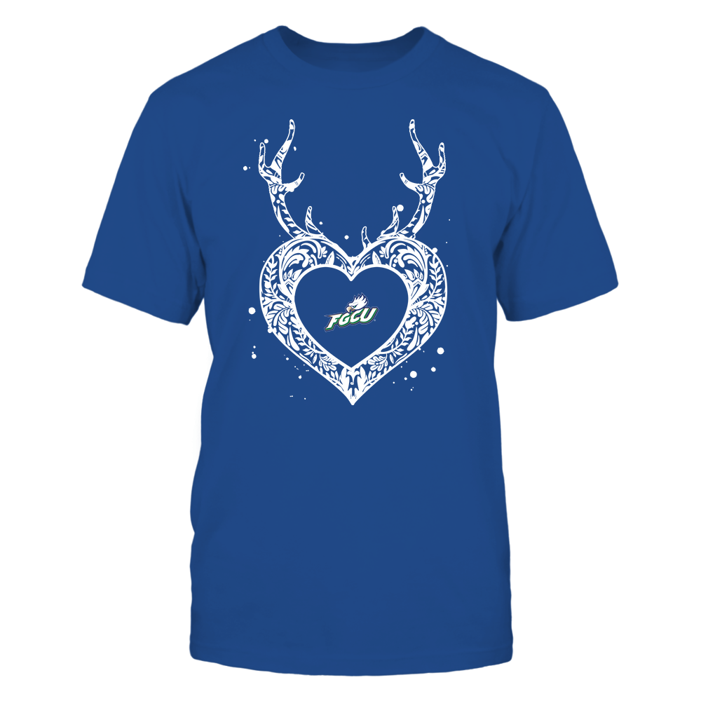 Florida Gulf Coast Eagles - Deer Pattern Heart - Team Front picture