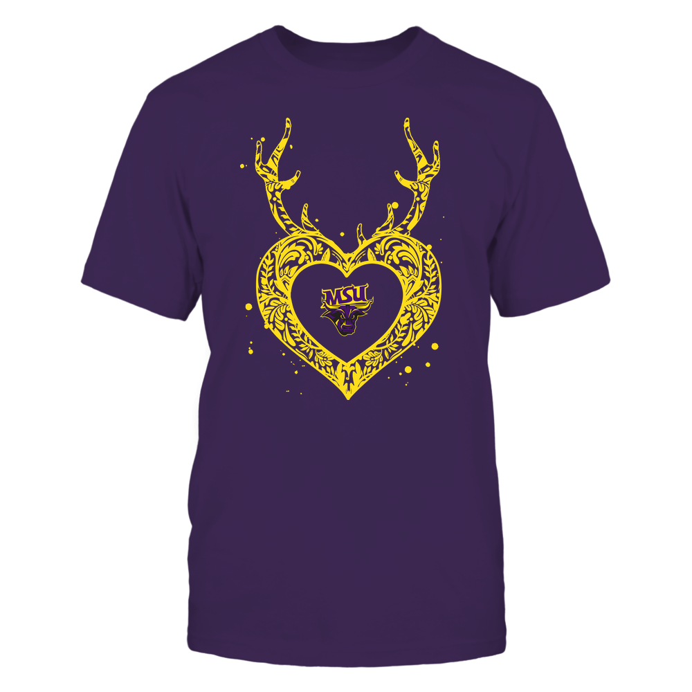 Minnesota State Mavericks - Deer Pattern Heart - Team Front picture