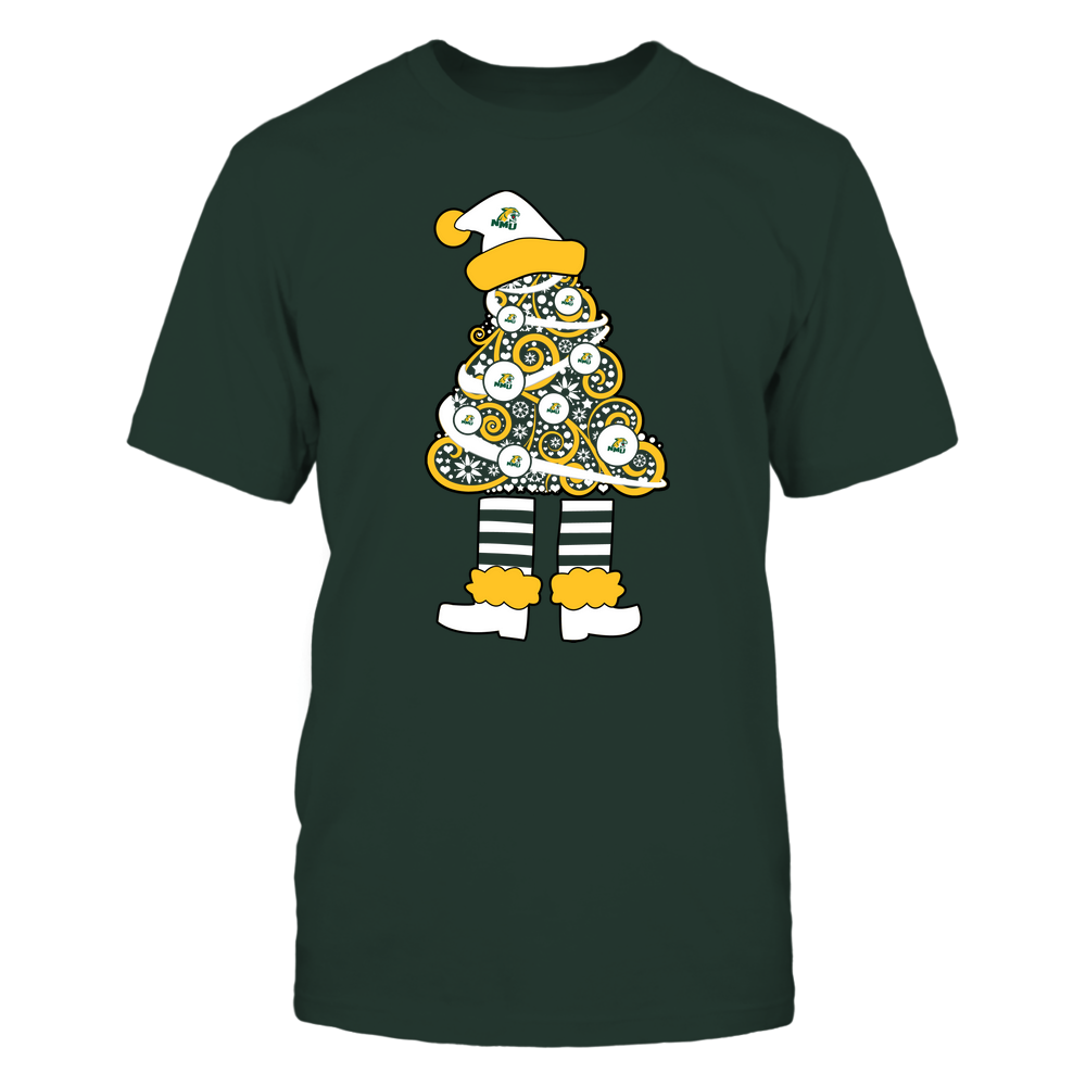 Northern Michigan Wildcats - 19111110070 - Xmas - Christmas Tree Elf - APCX - IF32-IC32-DS37 Front picture