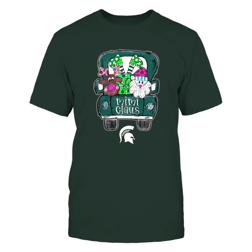 Michigan State Spartans - Xmas - Hand Drawing Mimi Claus  - IF78-IC78-DS85 Front picture
