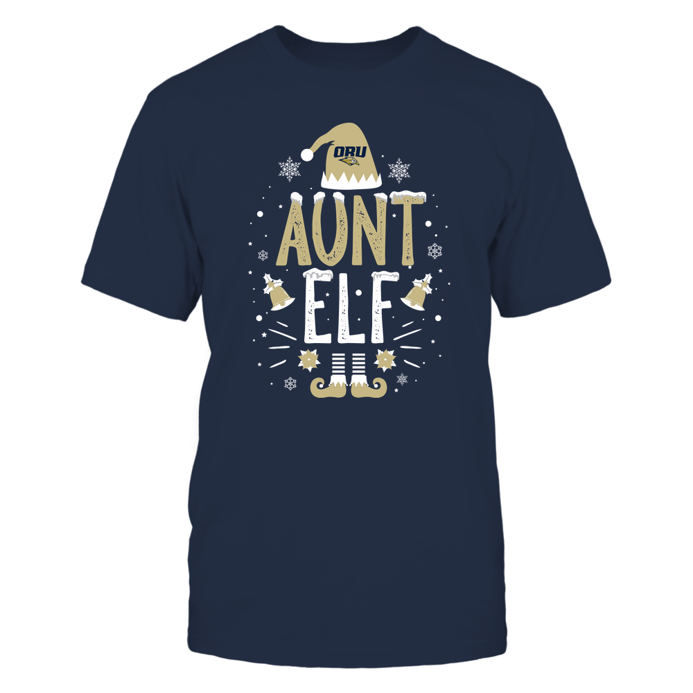 Oral Roberts Golden Eagles - Christmas - Aunt Elf - Team Front picture