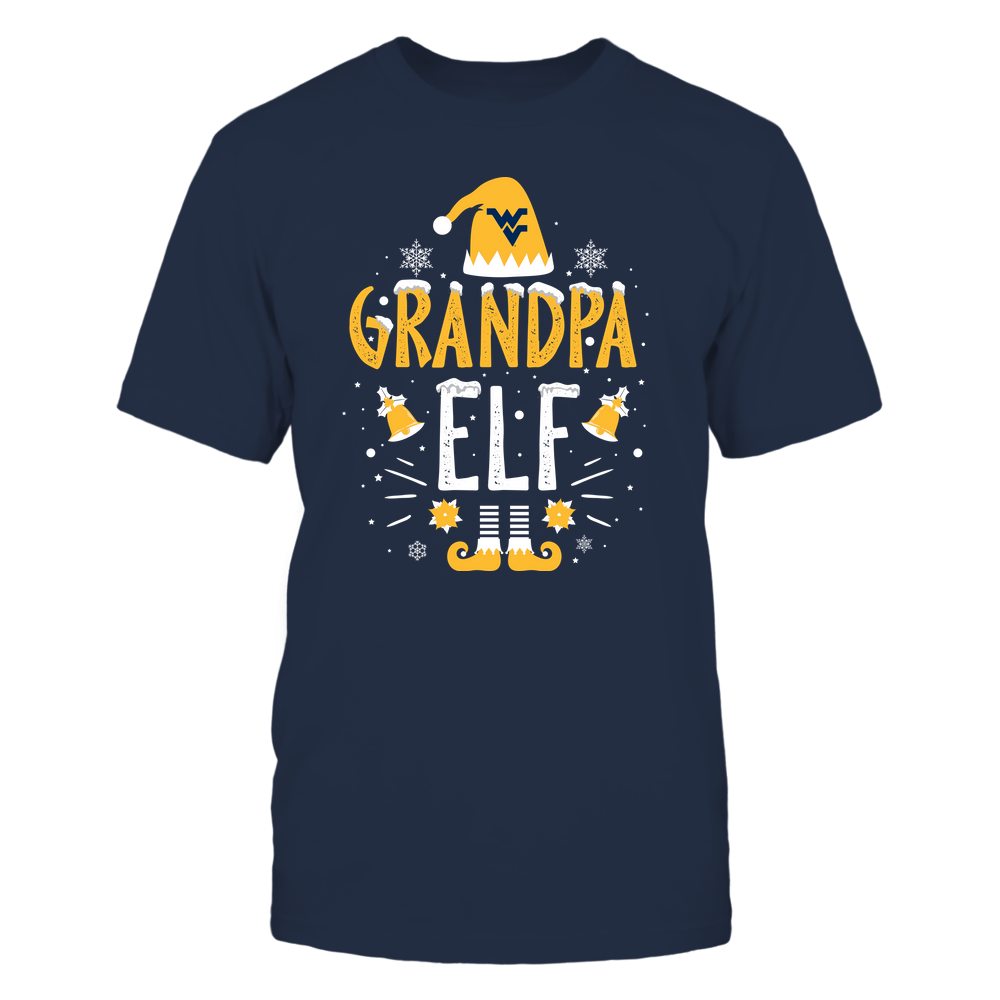 West Virginia Mountaineers - Christmas - Grandpa Elf - Team Front picture