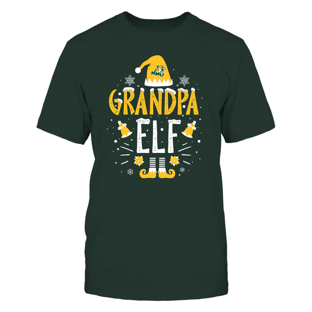 Northern Michigan Wildcats - Christmas - Grandpa Elf - Team Front picture