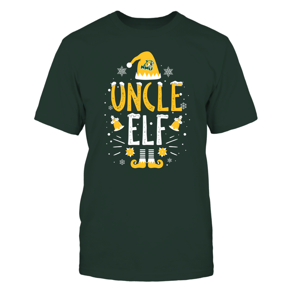 Northern Michigan Wildcats - Christmas - Uncle Elf - Team Front picture