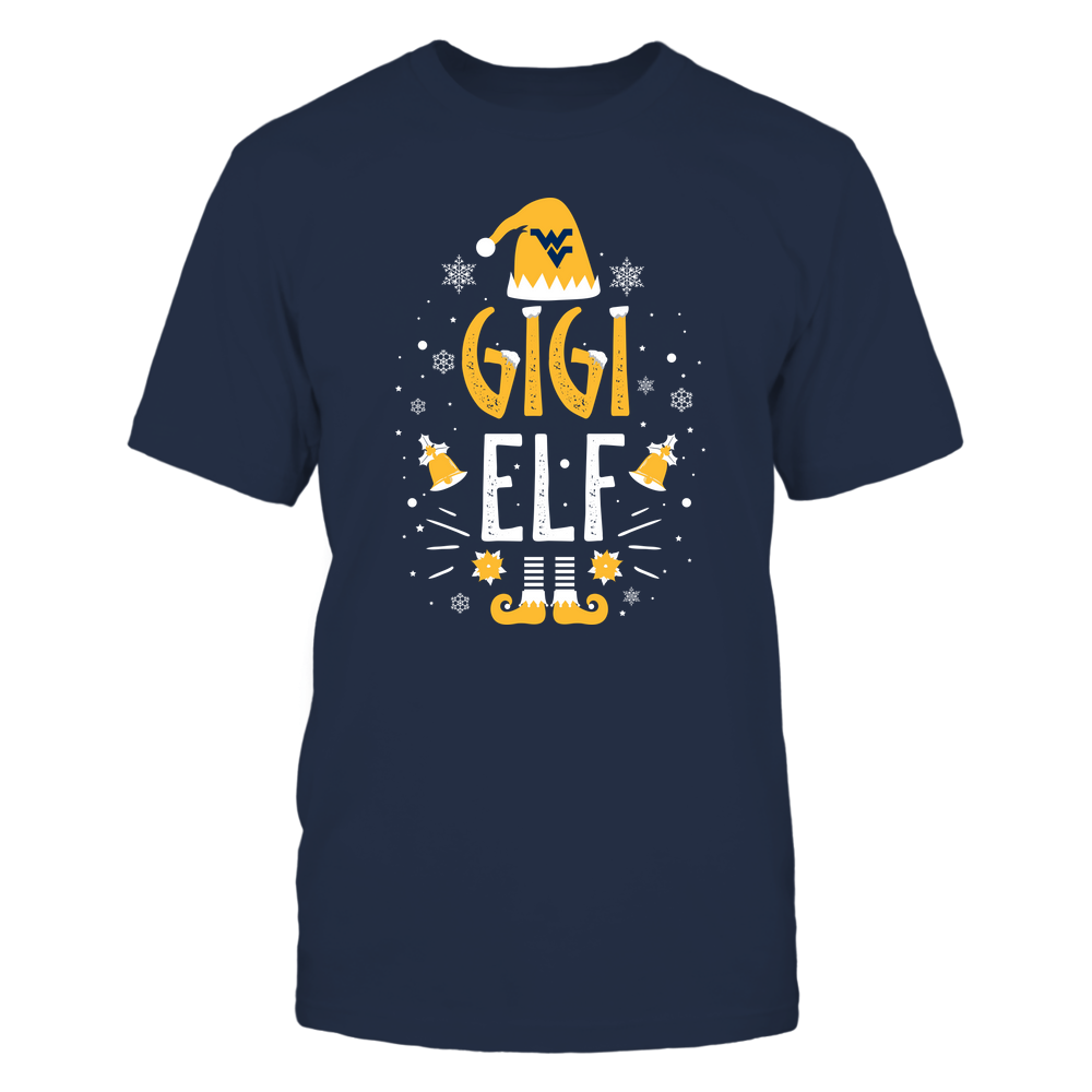 West Virginia Mountaineers - Christmas - Gigi Elf - Team Front picture