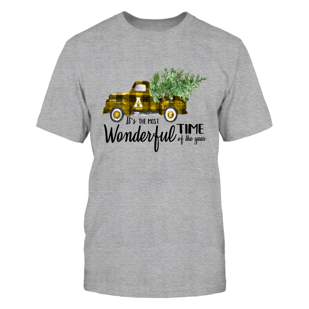 Appalachian State Mountaineers - Xmas - Most Wonderful Time - Checkered Truck - IF13-IC13-DS38 Front picture
