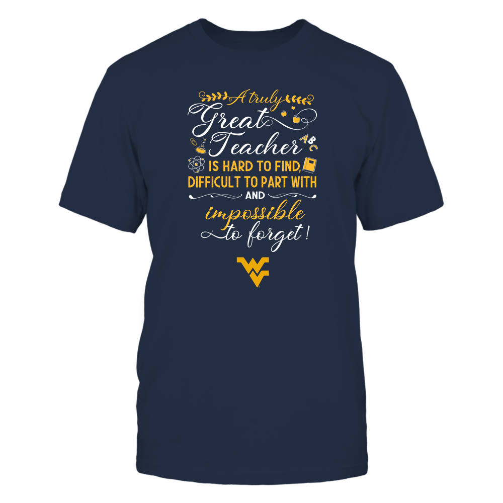 West Virginia Mountaineers - Teacher - A Truely Great Teacher - Team Front picture
