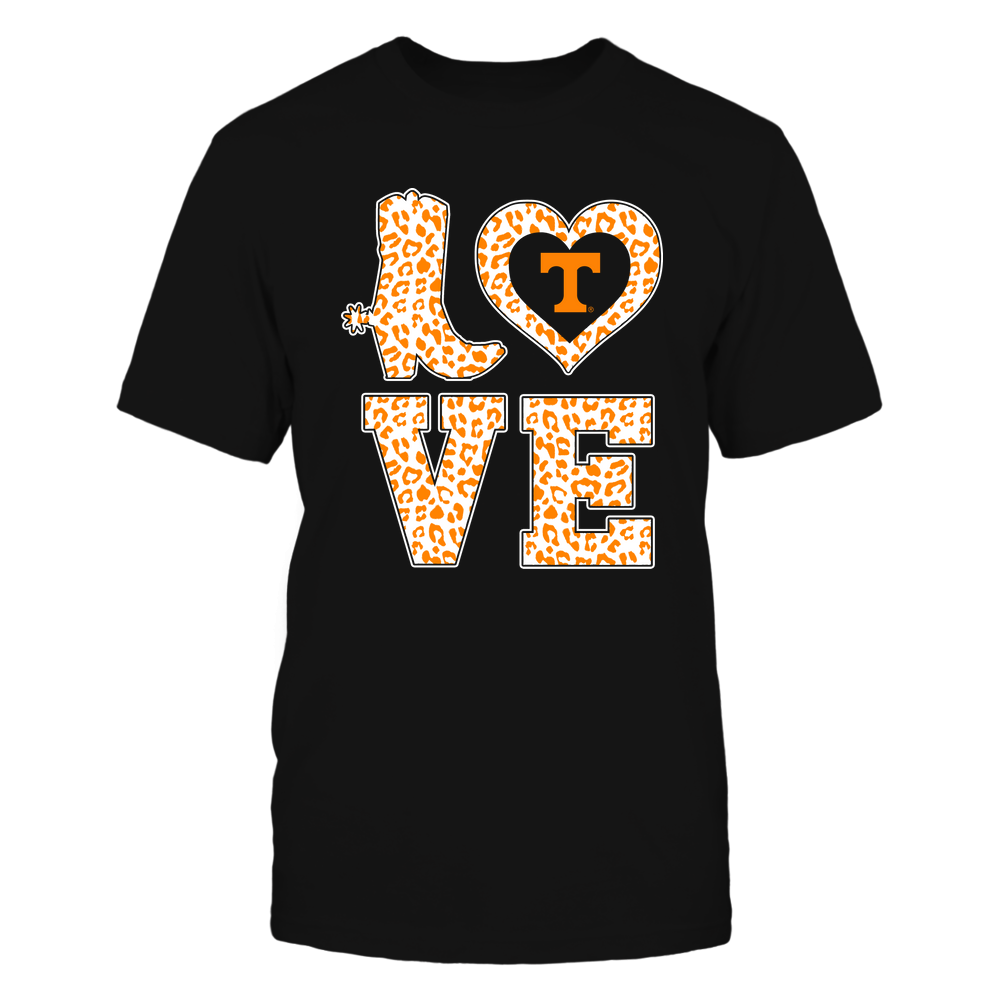 Tennessee Volunteers - Stacked Love Boot - Leopard Heart - Team Front picture