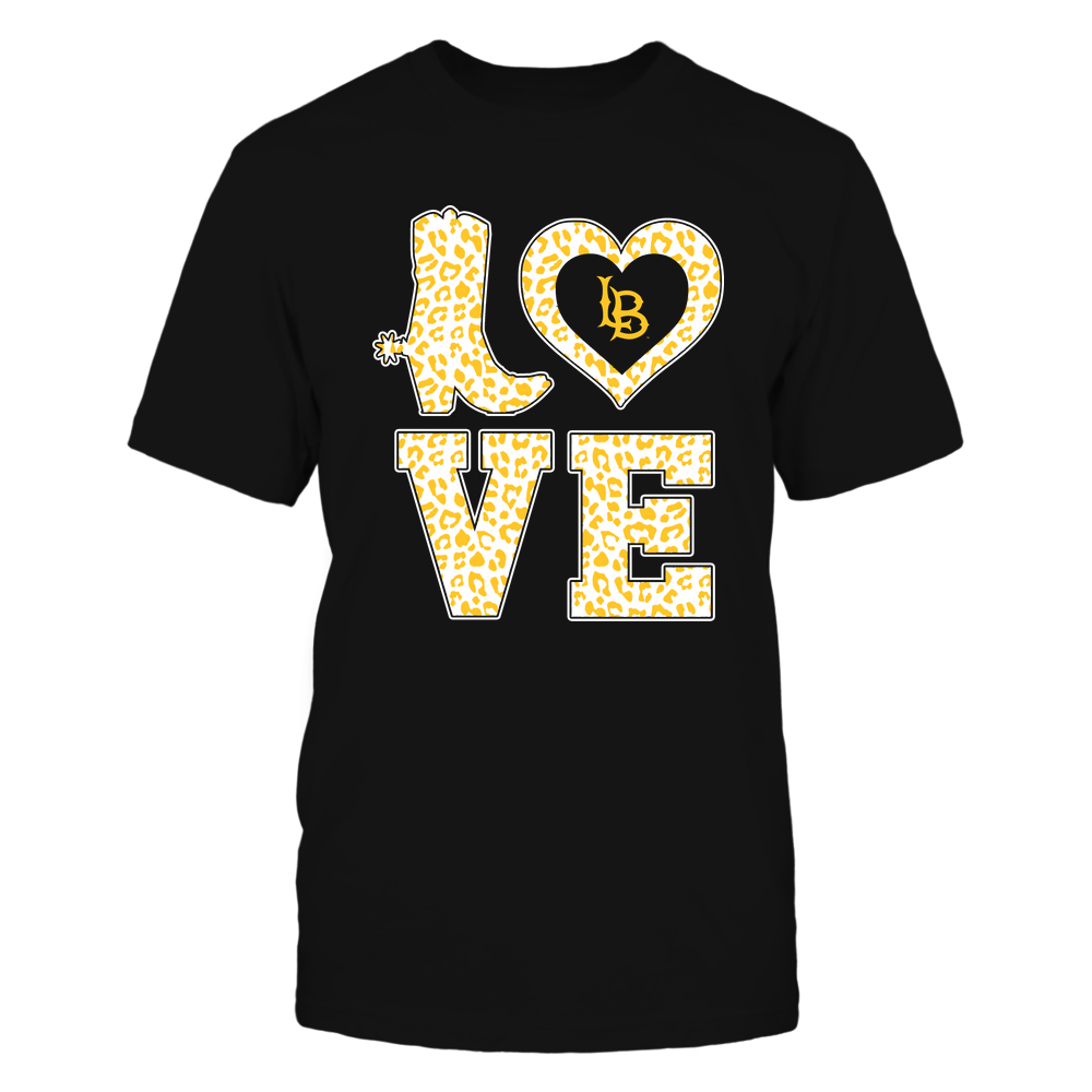 Long Beach State 49ers - Stacked Love Boot - Leopard Heart - Team Front picture