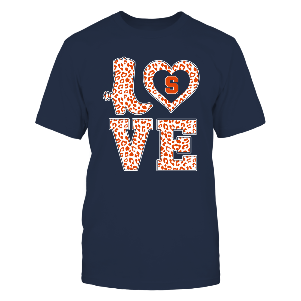 Syracuse Orange - Stacked Love Boot - Leopard Heart - Team Front picture