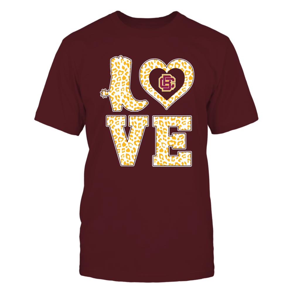 Bethune-Cookman Wildcats - Stacked Love Boot - Leopard Heart - Team Front picture