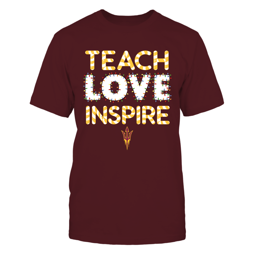 Arizona State Sun Devils - Xmas - Teacher - Teach Love Inspire - Xmas Things - IF82-IC82-DS64 Front picture
