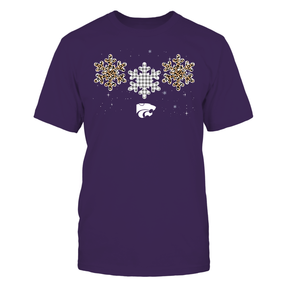 Kansas State Wildcats - Xmas - Triple Snowflake - IF32-IC32-DS64 Front picture