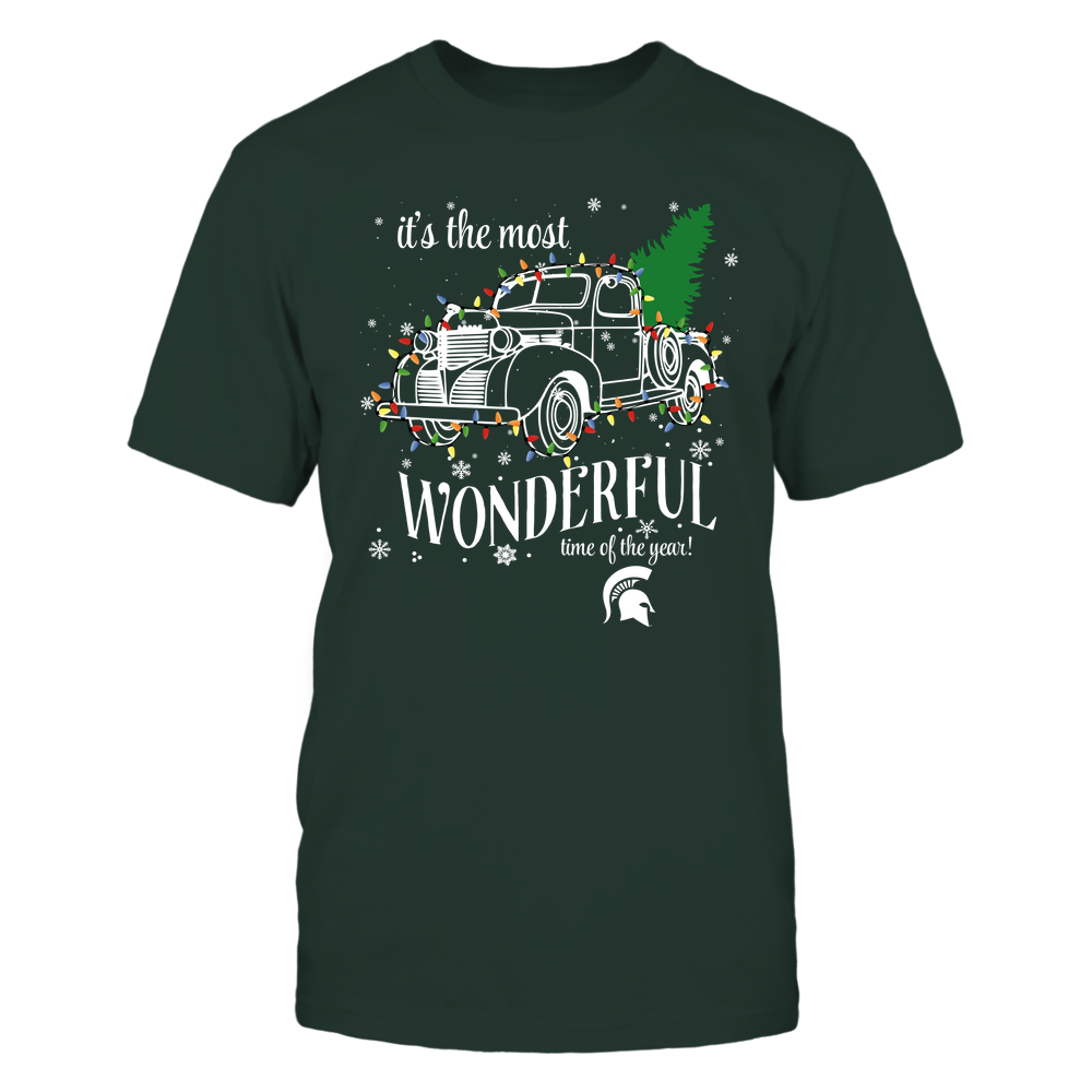 Michigan State Spartans - Xmas - Xmas Car - String Light - The Most Wonderful Time - IF82-IC82-DS37 Front picture