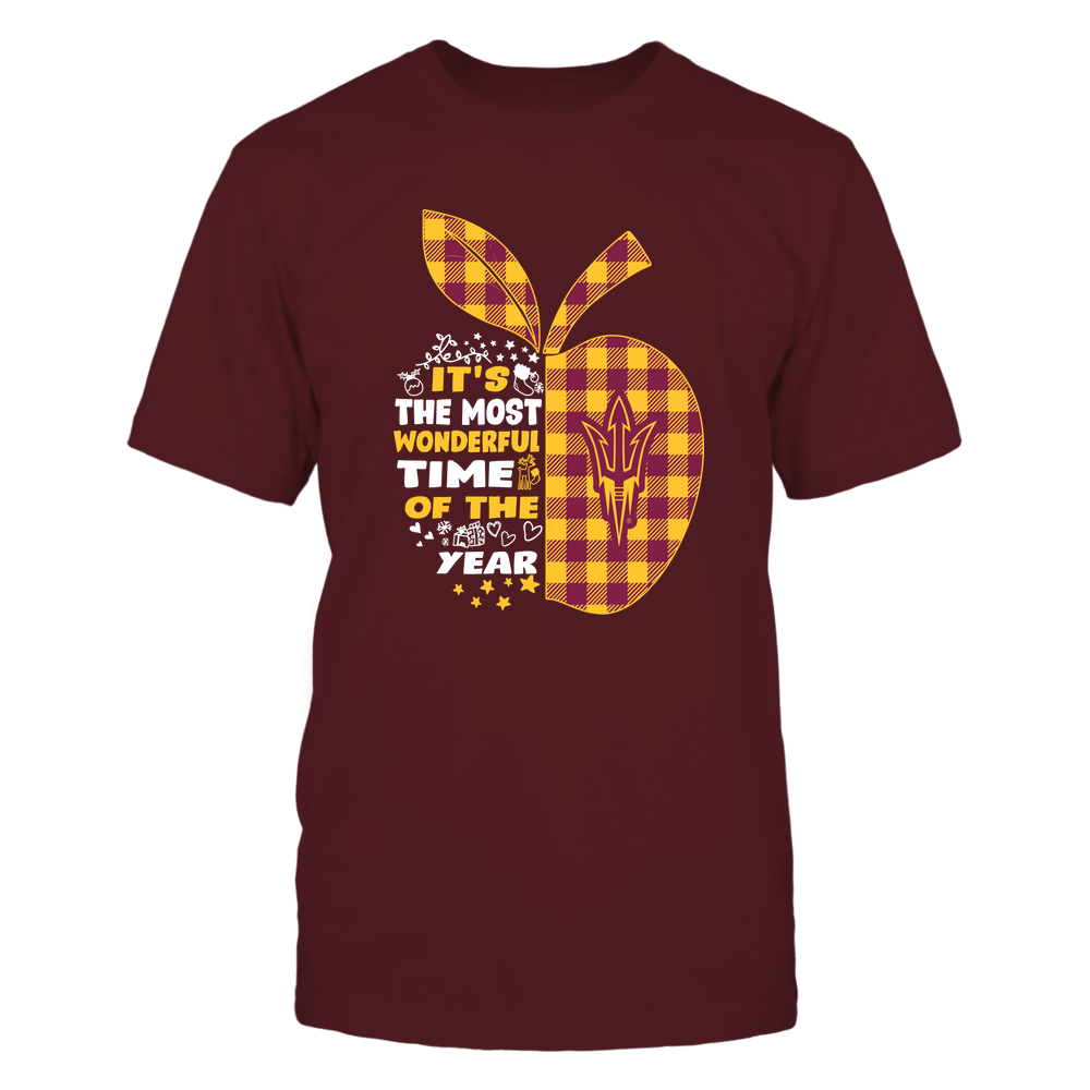 Arizona State Sun Devils - Xmas - Teacher - Checked Apple - The Most Wonderful Time - IF82-IC82-DS64 Front picture
