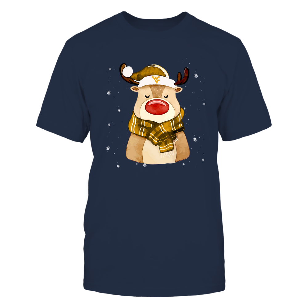 West Virginia Mountaineers - Xmas - Happy Reindeer  - IF82-IC82-DS38 Front picture
