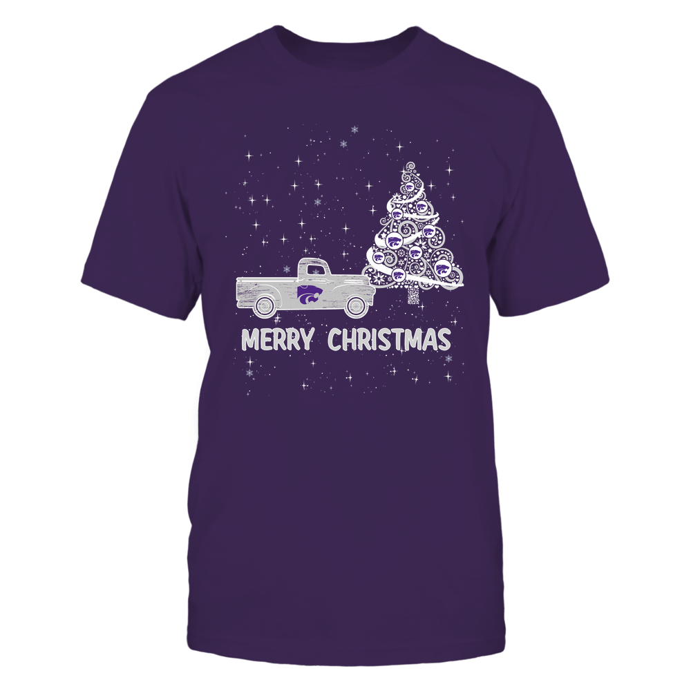 Kansas State Wildcats - Xmas - Christmas Tree - Christmas Truck - IF78-IC78-DS38 Front picture