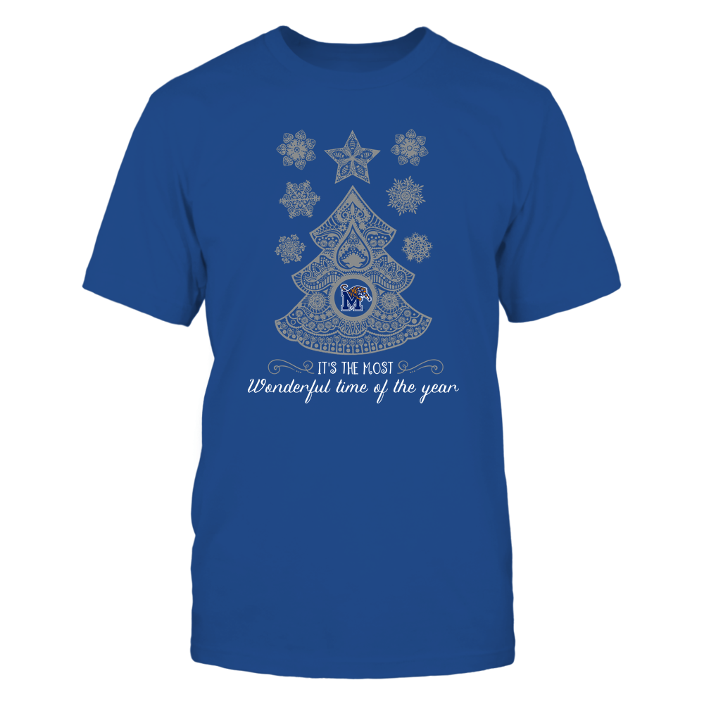 Memphis Tigers - Xmas - Paisley Tree - IF82-IC82-DS63 Front picture