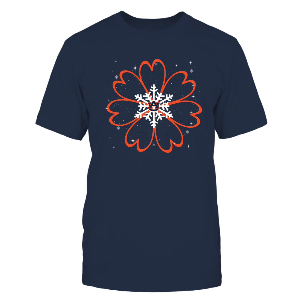 Auburn Tigers - Xmas Heart Flower Snowflake - IF32-IC32-DS38 Front picture