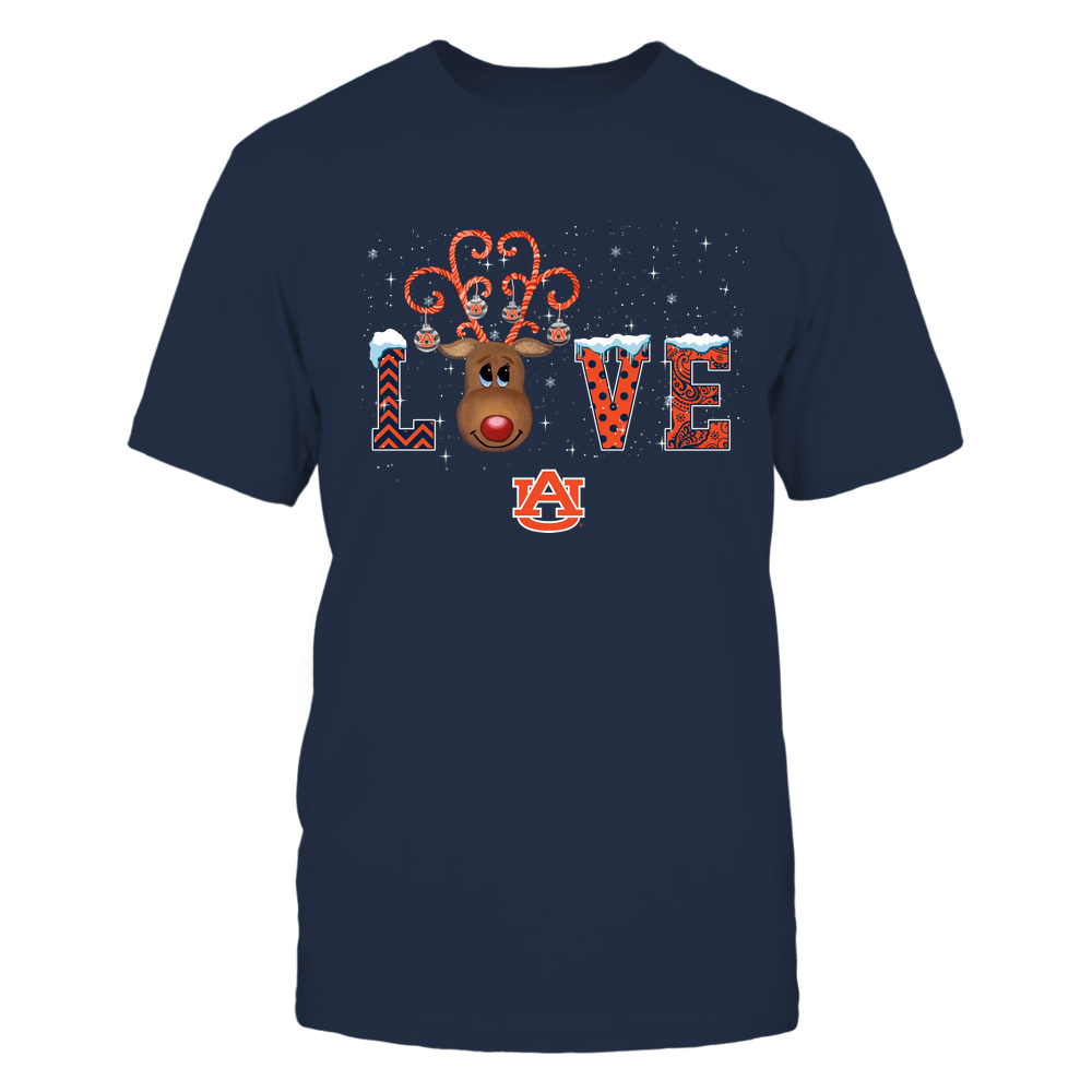 Auburn Tigers - Xmas - Love Reindeer - IF32-IC32-DS85 Front picture